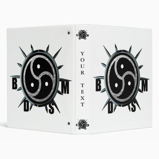 BDSM Symbol and Metal Spiked Collar Binder
