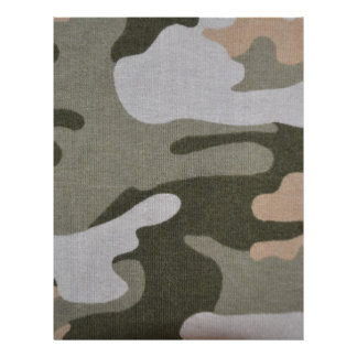 BDU Camouflage Military Pattern Peace Destiny Letterhead