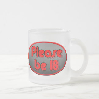 be18 black frosted glass coffee mug