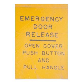 BE-18 Emergency Door Release Design Card