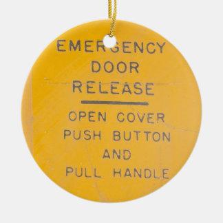 BE-18 Emergency Door Release Design Ceramic Ornament