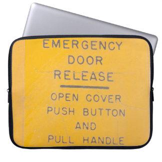 BE-18 Emergency Door Release Design Laptop Sleeve