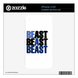 Be A Beast iPhone 4 Decals