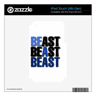 Be A Beast iPod Touch 4G Skins