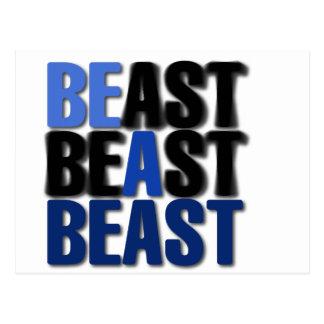 Be A Beast Postcard