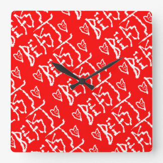 Be a Beast Square Wall Clock
