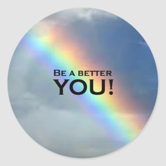 Be a Better YOU! Classic Round Sticker