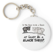 Be A Black Sheep 2 Keychain