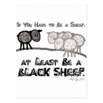 Be A Black Sheep 2 Postcard