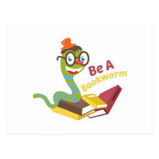 Be a bookworm postcards