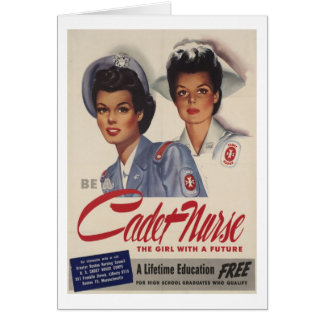 Be a Cadet Nurse Greeting Card
