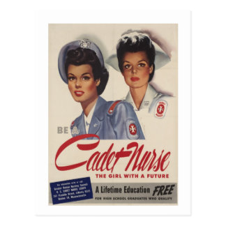 Be a Cadet Nurse Postcard