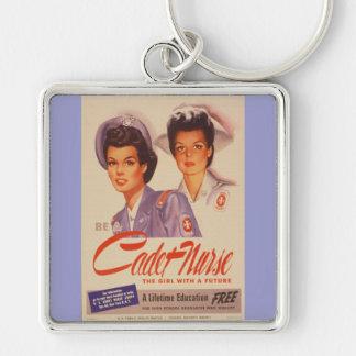 Be a Cadet Nurse Vintage War Poster Keychain