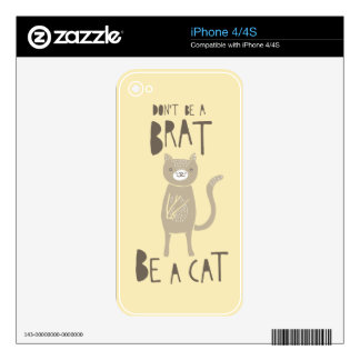 Be a Cat Decals For iPhone 4S