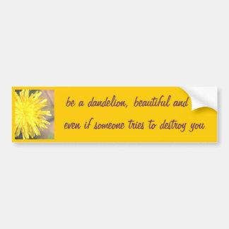 Be a Dandelion Car Bumper Sticker