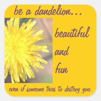 Be a Dandelion Square Sticker