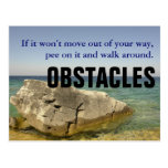 Be a Dog: Don't Let Obstacles Block Your Way Postcards