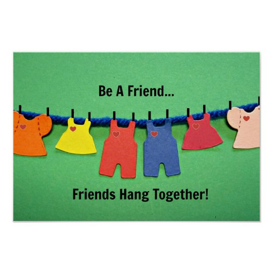 Be A Friend! Poster
