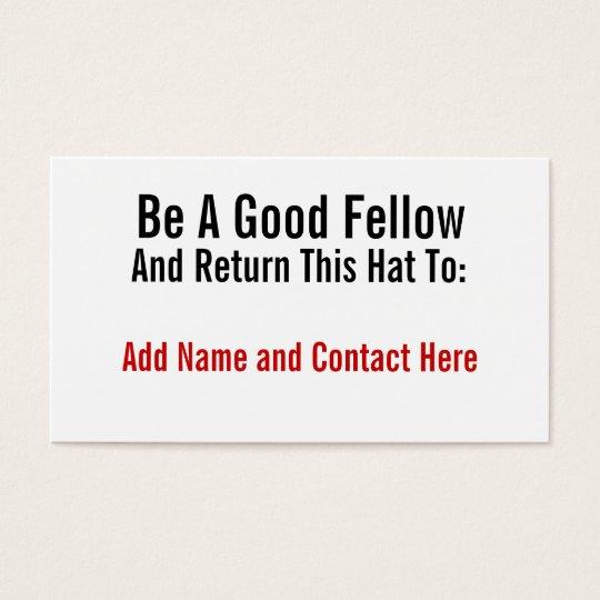 Be A Good Fellow Business Card