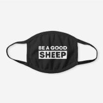 Be a good sheep black cotton face mask