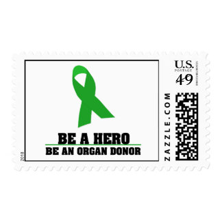 Be a Hero Organ Donation Postage Stamp