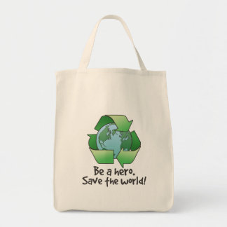 Be A Hero, Recycle Accent Tote Bag