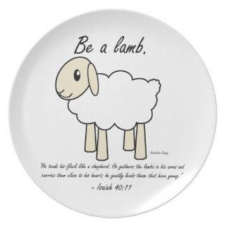 """Be a Lamb"" Plate"