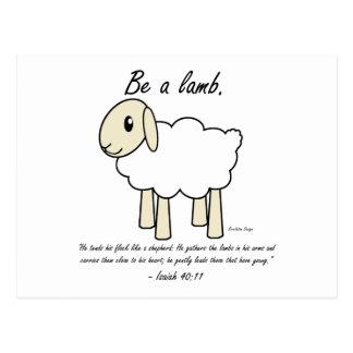 """""""Be a Lamb"""" Postcard"""