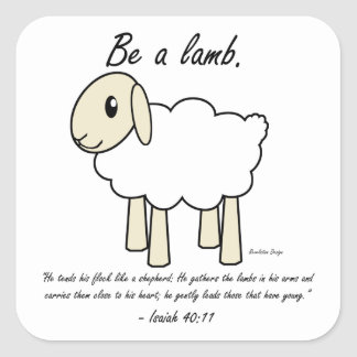 """Be a Lamb"" Stickers"