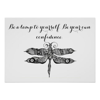 Be a lamp to yourself Quote Poster