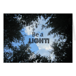 Be a light! greeting card