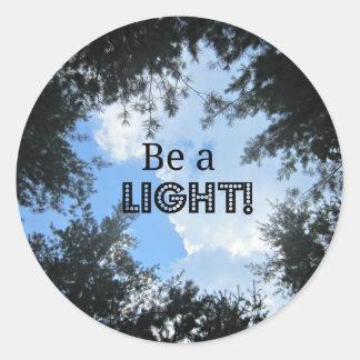 Be a light! classic round sticker