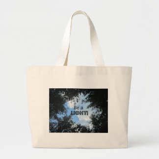 Be a light! large tote bag
