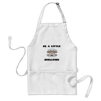 Be a little shellfish scallop adult apron