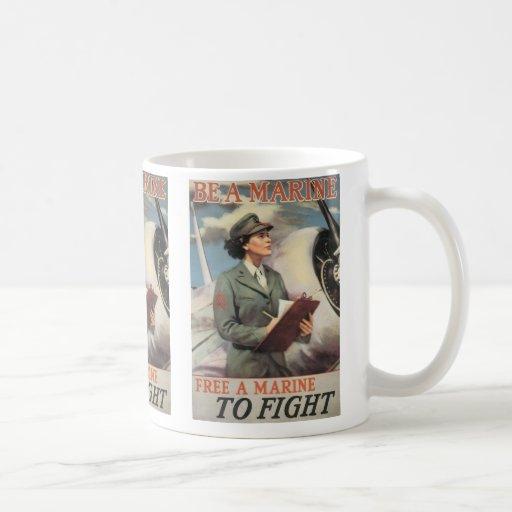 Be a Marine - Free a Marine to Fight Classic White Coffee Mug