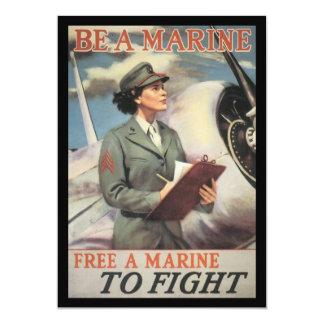 Be A Marine World War II Card
