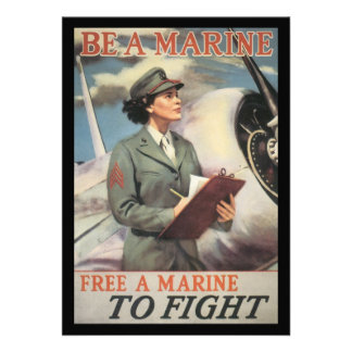 Be A Marine World War II Personalized Invite