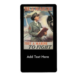 Be A Marine World War II Label
