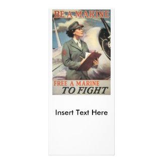 Be A Marine World War II Rack Cards