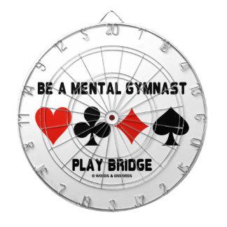 Be A Mental Gymnast Play Bridge (Four Card Suits) Dartboard