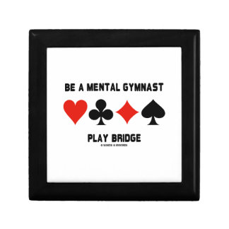Be A Mental Gymnast Play Bridge (Four Card Suits) Jewelry Boxes