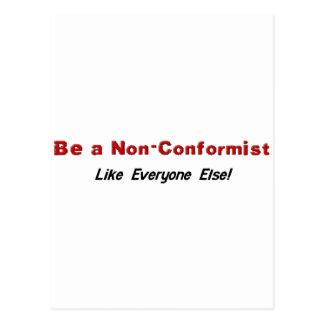 Be a Non-Conformist Postcard