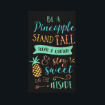 """Be a Pineapple Quote Inspirational Canvas<br><div class=""""desc"""">Be a Pineapple Quote Inspirational Black Canvas</div>"""