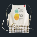"""Be a Pineapple Zazzle HEART Apron<br><div class=""""desc"""">Be a Pineapple Apron : Watercolour typography quote art apron   The illustration of a pineapple with the quote:  Be a pineapple,  stand tall,  wear a crown and be sweet on the inside.</div>"""