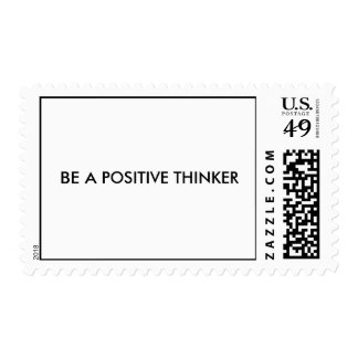 """Be a positive thinker"" Postage Stamps"