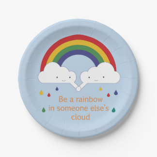 Be a Rainbow Paper Plate