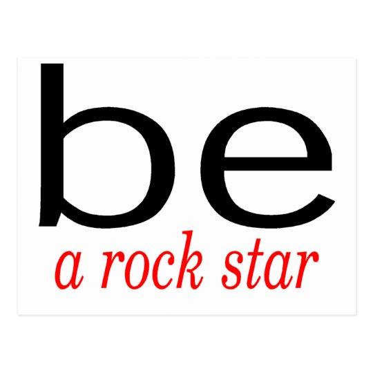 Be A Rock Star Postcard