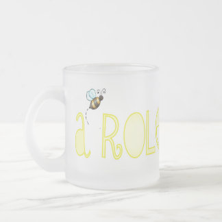 Be A Role Model - A Positive Word Frosted Glass Coffee Mug