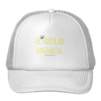 Be A Role Model - A Positive Word - Round (Yellow) Trucker Hat