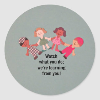 Be a role model for children classic round sticker